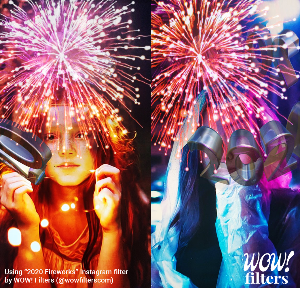 2020 New Year's Eve Fireworks Instagram Filter