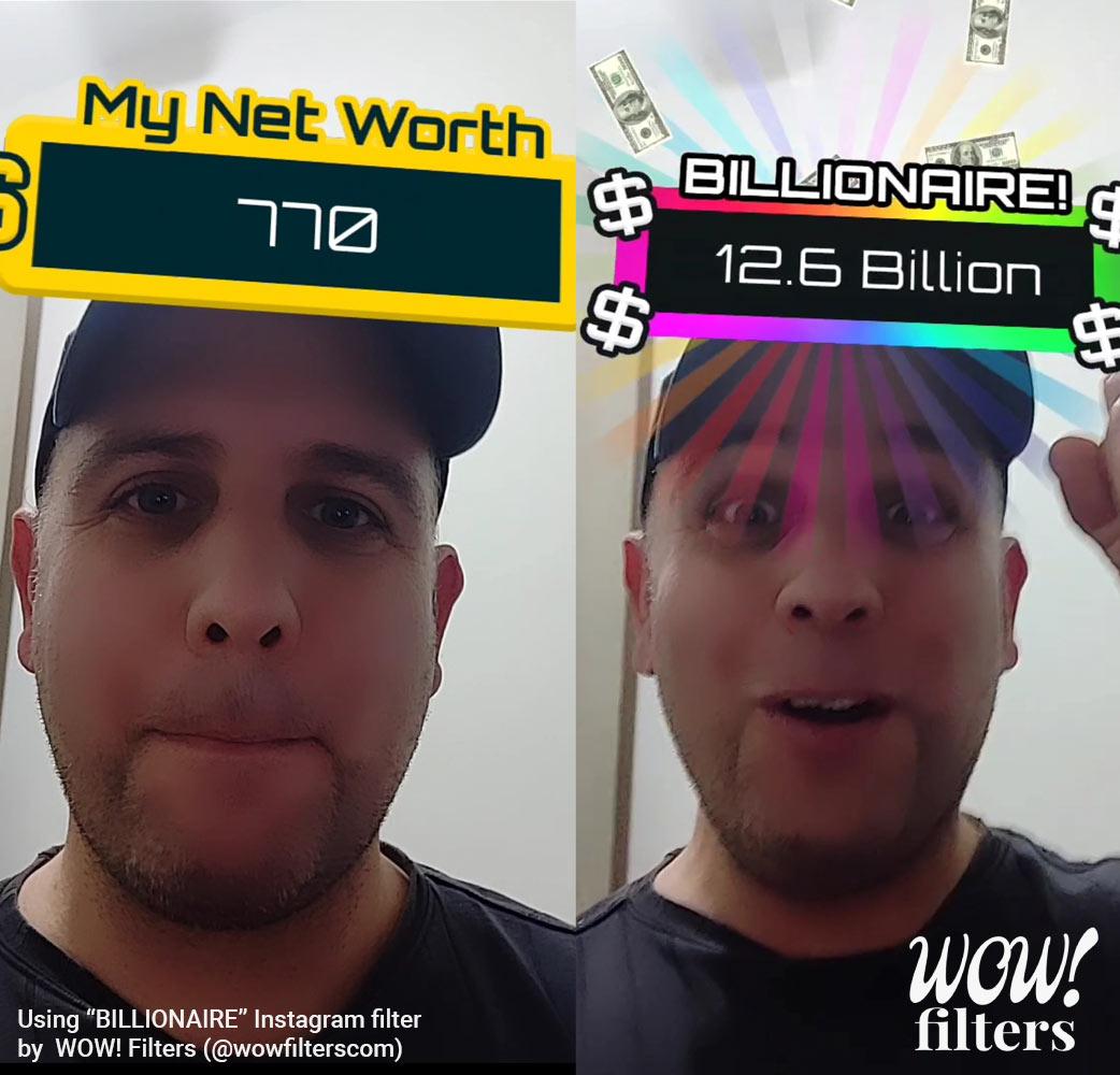 Billionaire game Instagram filter