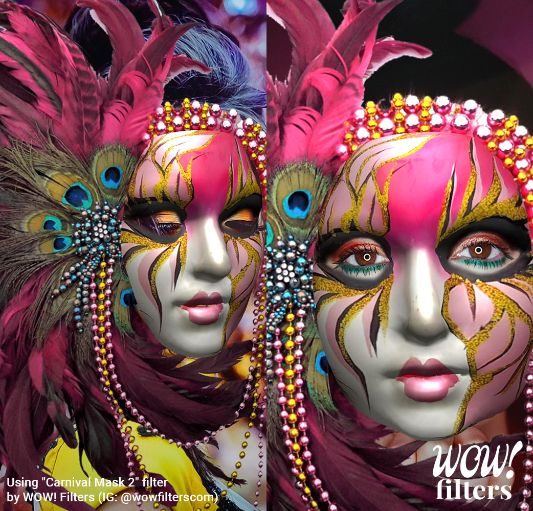 Brazil Carnival Instagram face mask