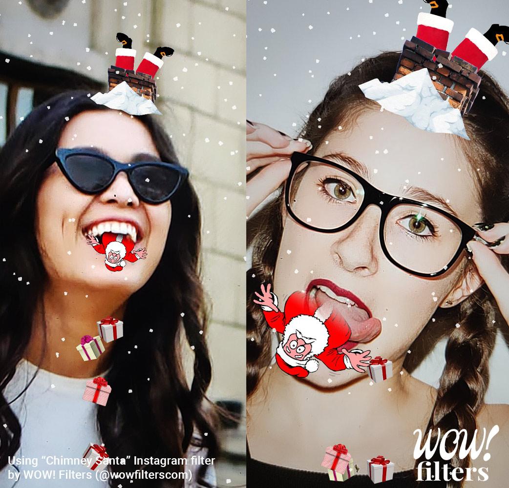 Chimney Santa Claus Instagram filter