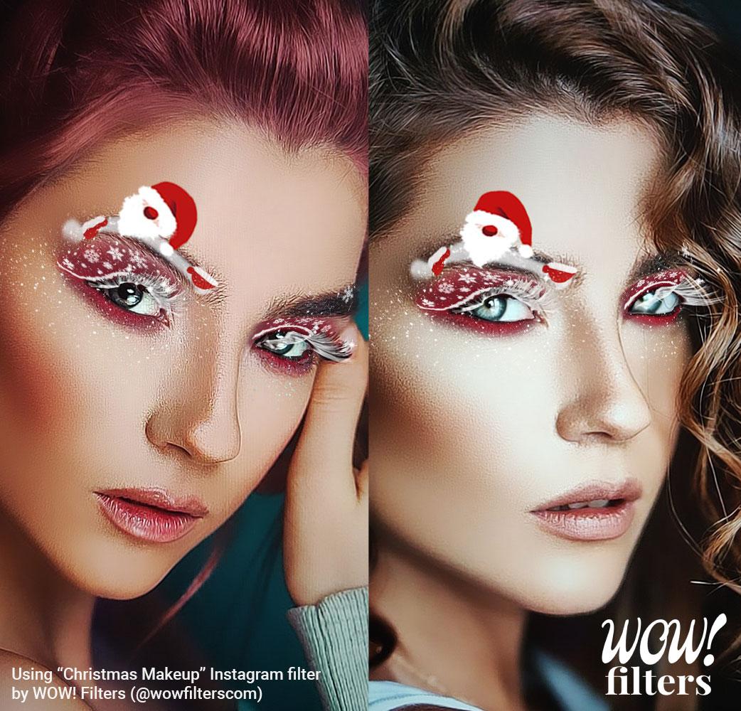 Christmas Makeup Look Instagram Filter