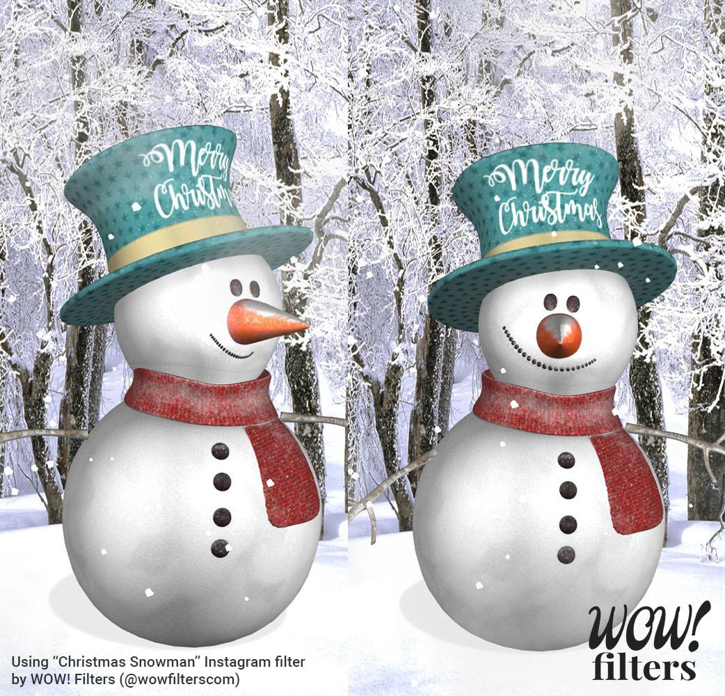 Christmas Snowman Instagram filter