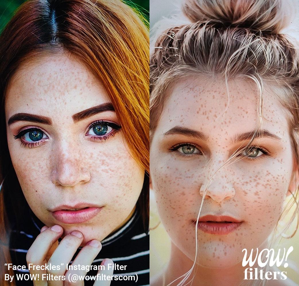 Face freckles Instagram filter