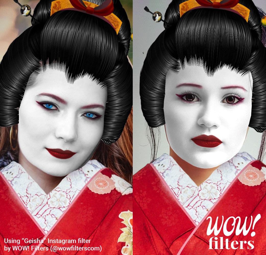 Geisha costume Instagram filter