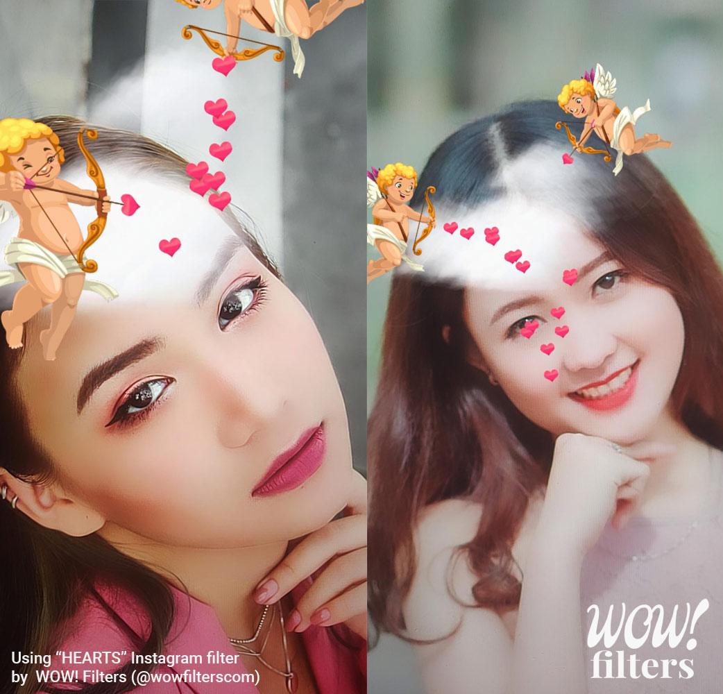 Cupid shoots love arrows Instagram filter