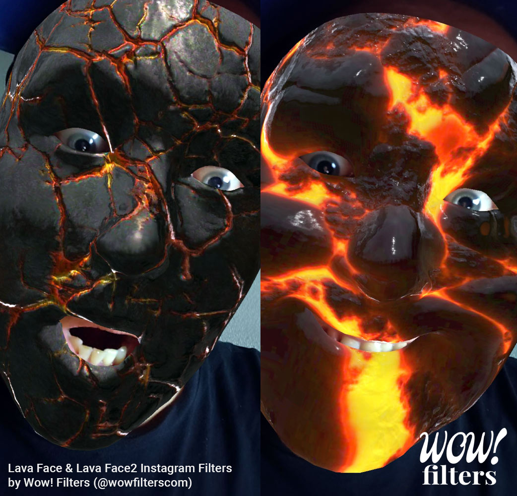 Scary Halloween Lava face Instagram filters