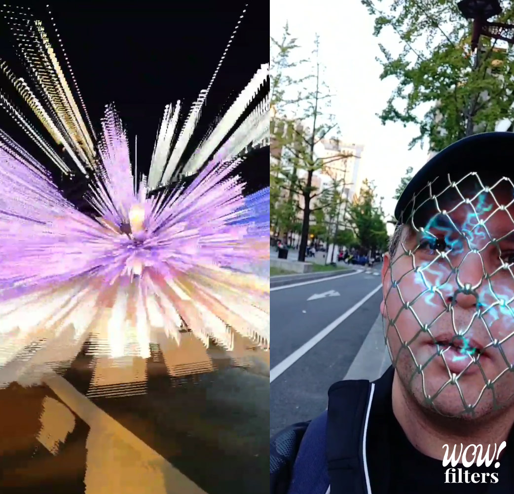 Light Invasion and Locked 3 Instagram filters demonstrated in Midusuji Illumination 2019 event