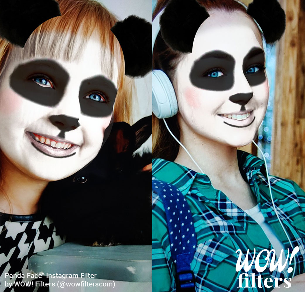 Panda bear Instagram face mask