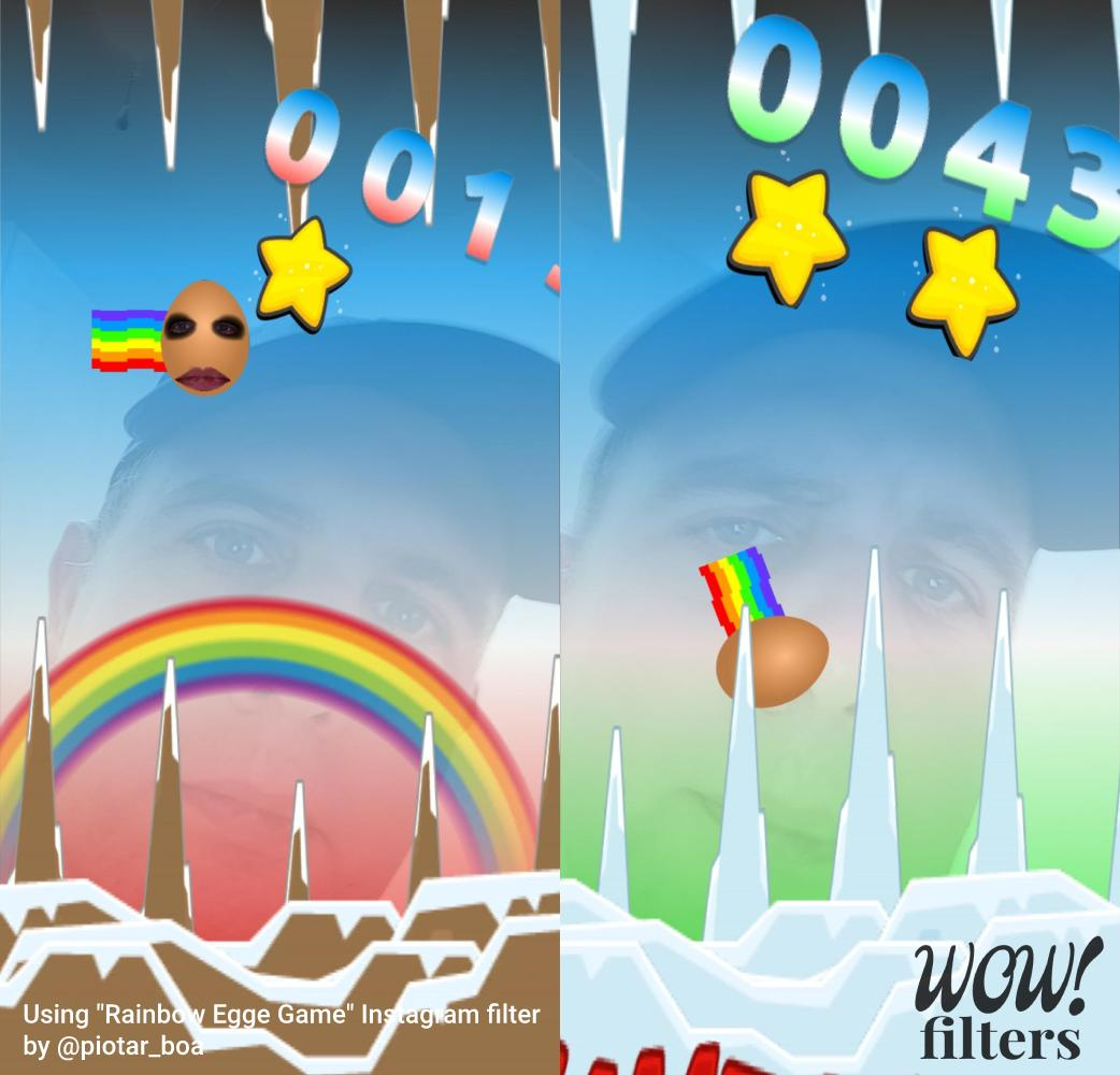 Rainbow Egg Game, a colorful retro-style game