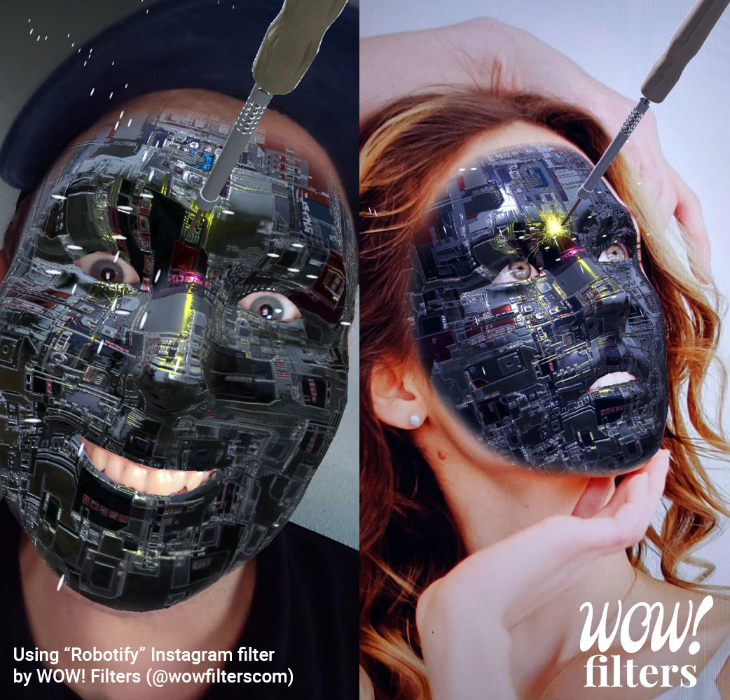 Robotify soldering iron Instagram face filter