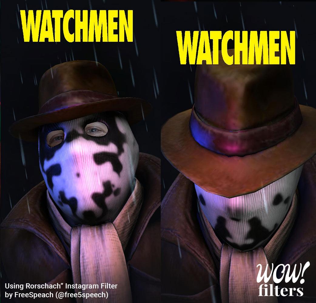 Rorschach Watchmen HBO Instagram mask filter