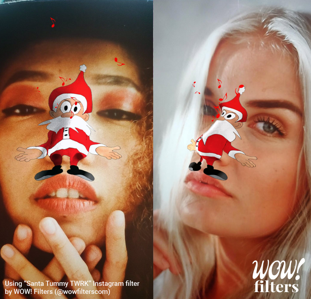 Santa TWRK Instagram filter