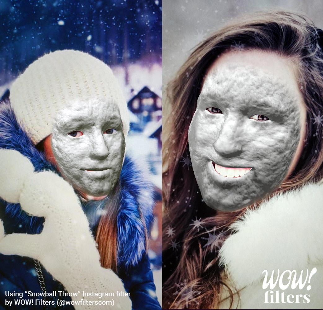 Snowball throwing Instagram filter screenshot